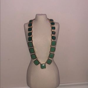 Kate Spade Green And Gold Necklace